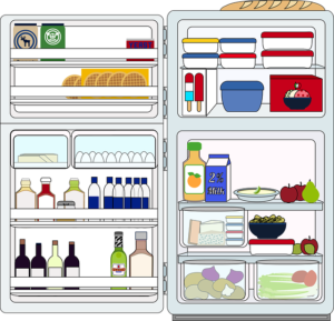 refrigerator and food graphics